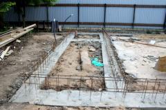 Строительство фундамента каркасного гаража