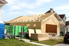 Монтаж каркаса гаража и стропильной системы