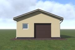 Проект гаража на 1 машину под ключ - в 3д