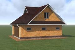 Проект кирпичного гаража с мансардой