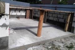 Фундамент и стены гаража из газобетона