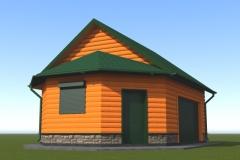 Проект гаража с подвалом, чердаком и хозблоком