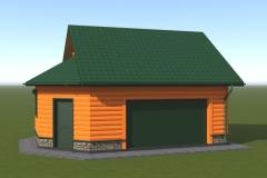 3д-модель гаража из пеноблоков