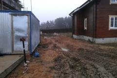 Площадка строительства на даче