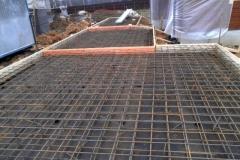 Армирование фундаментных плит гаража с хозблоком и навесом