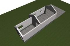 Стены гаража и хозблока из пеноблоков