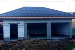Фото без отделки - завершение строительства гаража