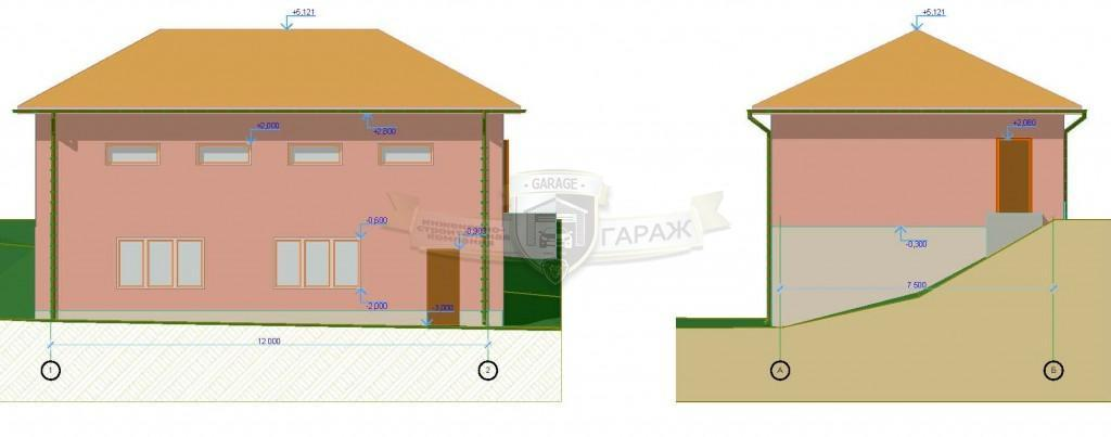 Построить гараж на склоне с цокольным этажом