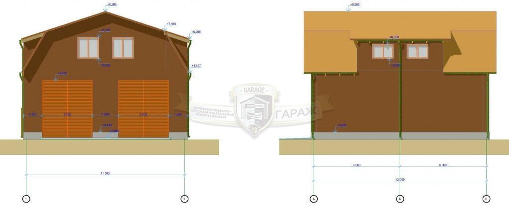эскизный проект - фасады гаража