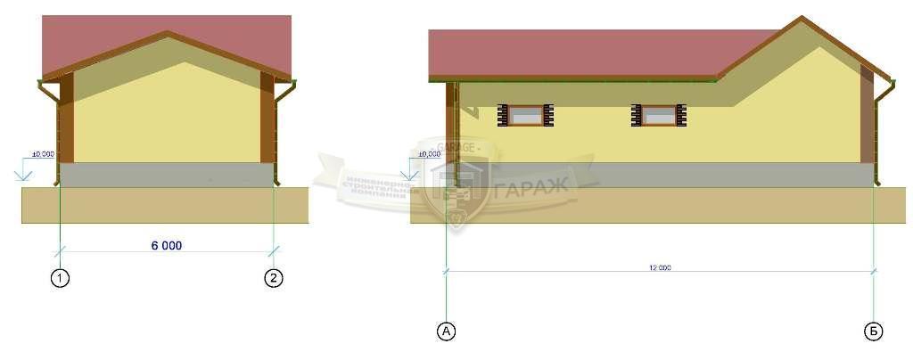 фасады гаража - проектирование