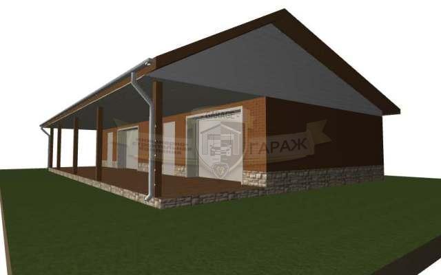 Эскизный проект гаража - фото