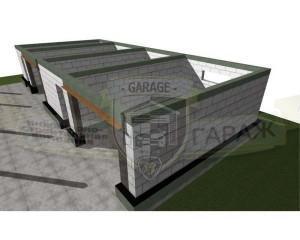 Коробка гаража с монолитными поясами