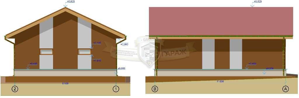 архитектура гаража - проект эскизы детали