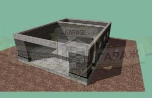 строительство гаража и хозблока - стены из керамзитобетонных блоков