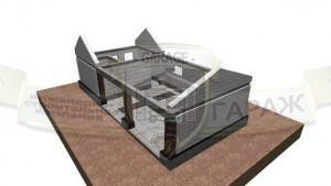 строительство гаража из газобетона с монолитными поясами