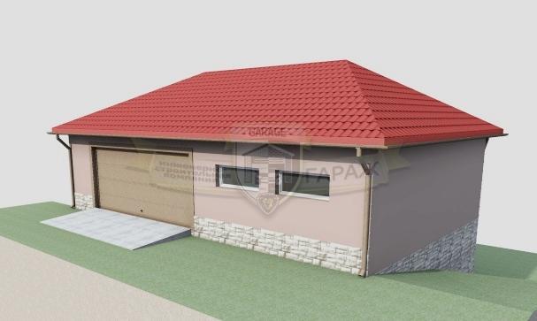 Гараж с цокольным этажом - проект