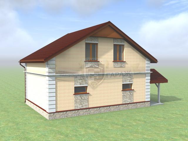 построить гараж с мансардой по эскизному проекту
