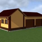 строительство гаража по проекту - 2 машины с хозблоком