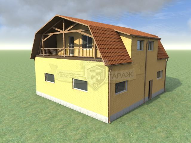 эскизный проект гаража для грузовых авто