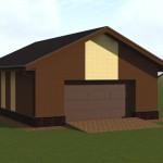 кирпичный гараж проект под ключ