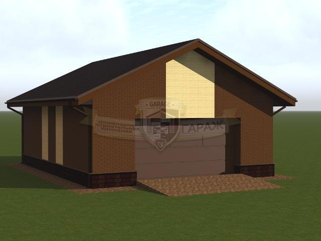 эскизный проект - гараж с хозблоком