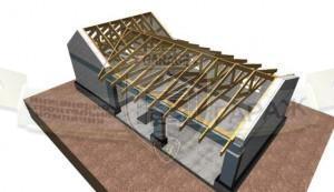 как построить крышу гаража - конструкция стропильной системы