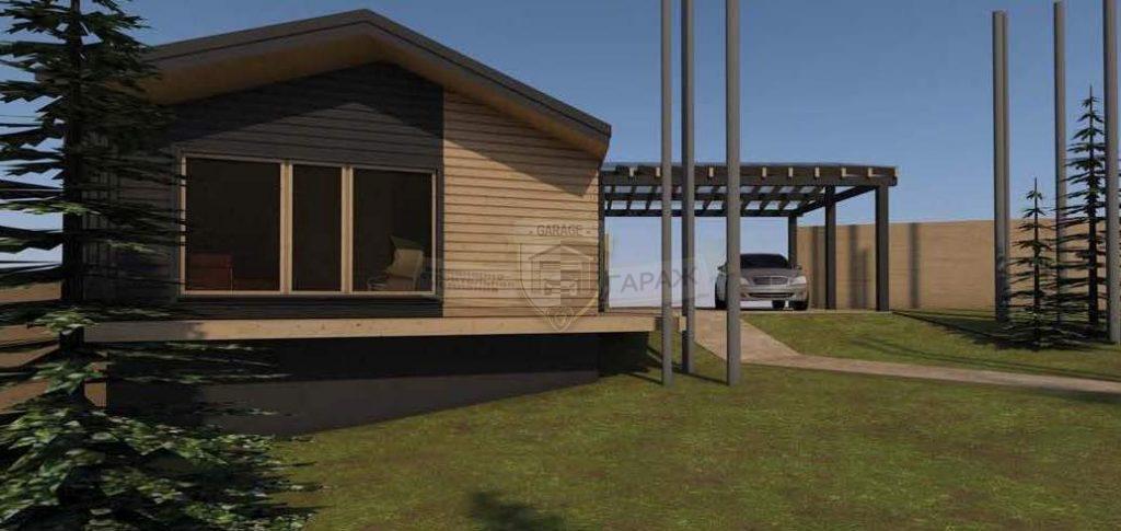 Трехмерная модель в проекте гаража с подвалом