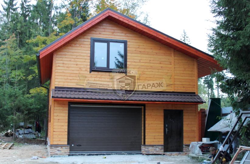 Проект каркасного гаража с мансардой и хозяйственной частью - как построить гараж с мансардой