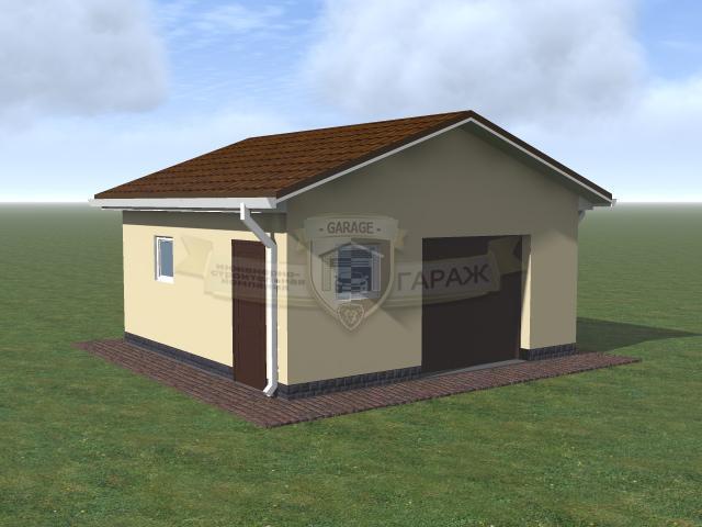 3d модель гаража на одно машиноместо - проект в трехмерном виде