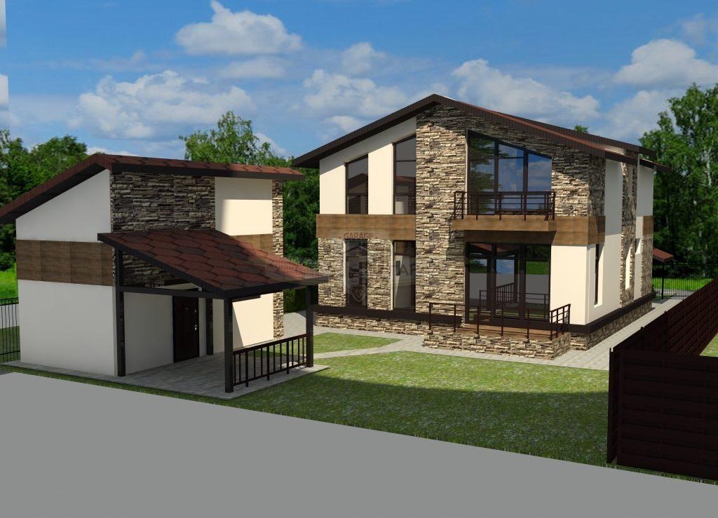 3D модель гаража, визуализация