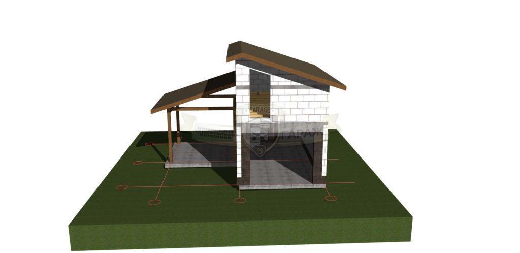 Как построить крышу гаража и навеса